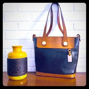 Vintage Leather Dooney & Bourke Bag Perforated